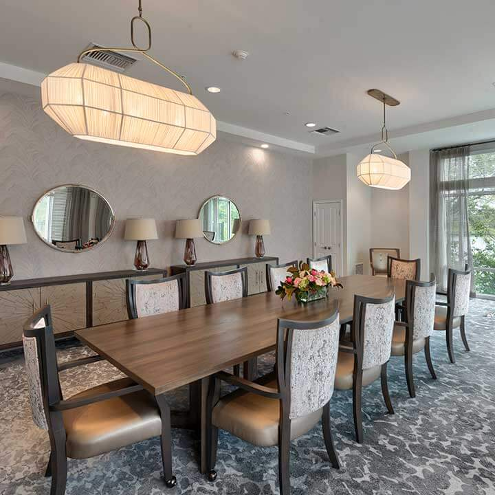 Heartis Venice private dining room with long table and seating for ten