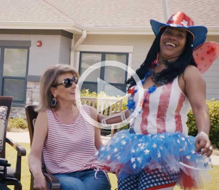 Two women celebrating the 4th of July